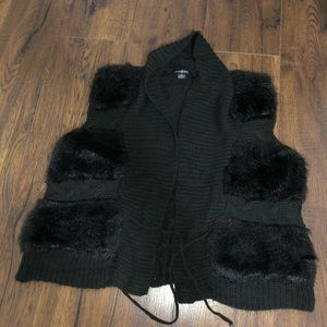 Cute fluffy vest!
